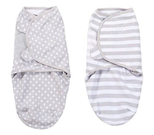 SwaddleMe Original Swaddle 2-PK, Grey Dot Stripe (SM)