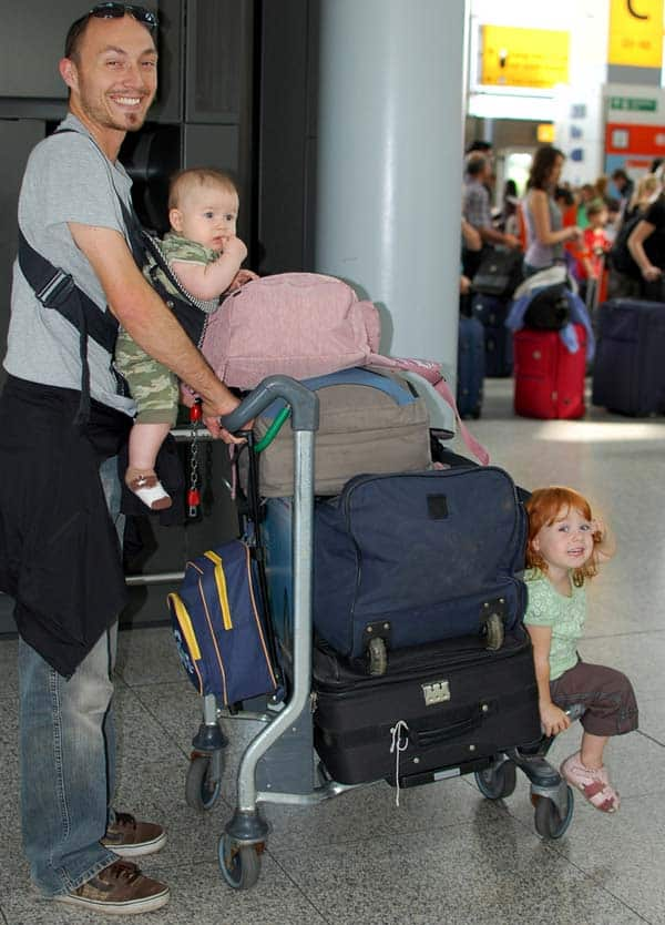 travel packing with a baby