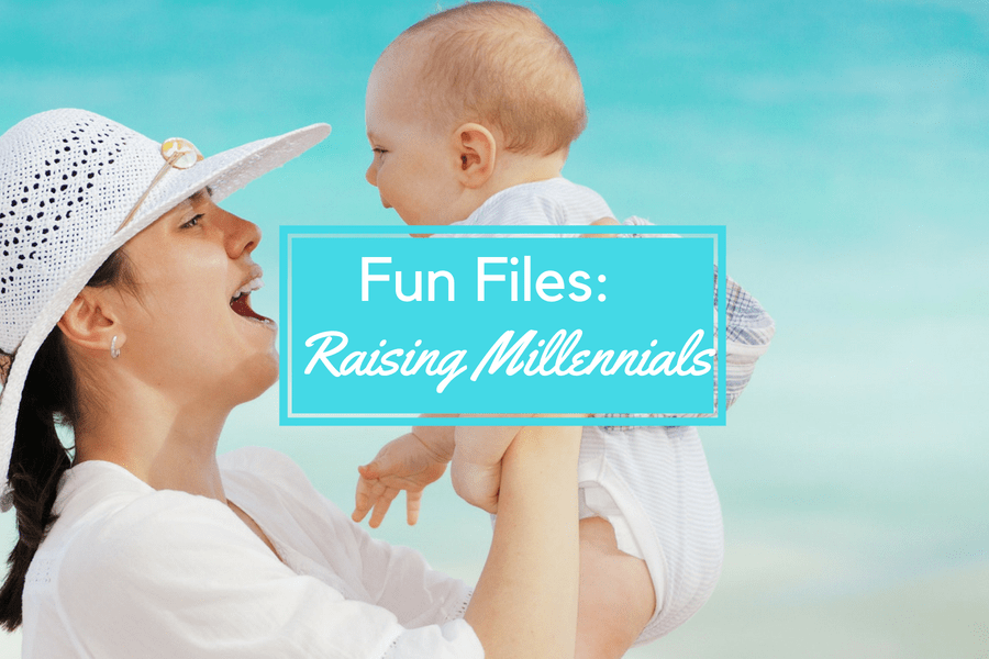 millennials fun files header image of mom and baby