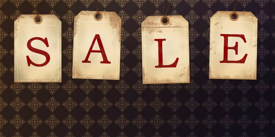 sale sign hanging tags